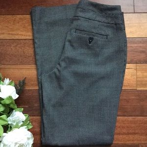 Ann Taylor LOFT Black Houndstooth Dress Pants